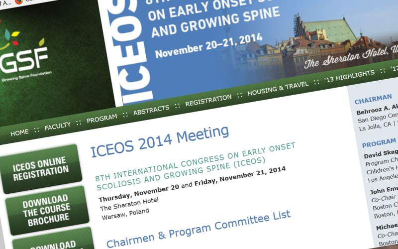 20th – 21st 8th International Congress on Early Onset Scoliosis and Growing Spine