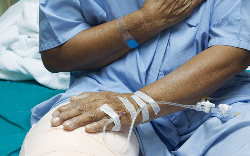 Hospital not liable for infection of replacement knee joint