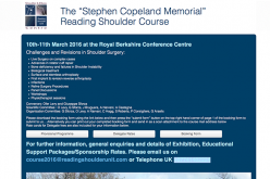 "10–11 March 2016 – The ""Stephen Copeland Memorial"" Reading Shoulder Course"