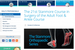 17-19 May 2016 – 21st Stanmore course in surgery of the foot and ankle