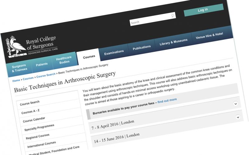 14-15 June 2016 – Basic Techniques in Arthroscopic Surgery, London