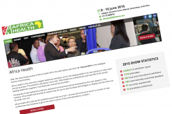 8-10 June 2016 –Africa Health 2016, South Africa