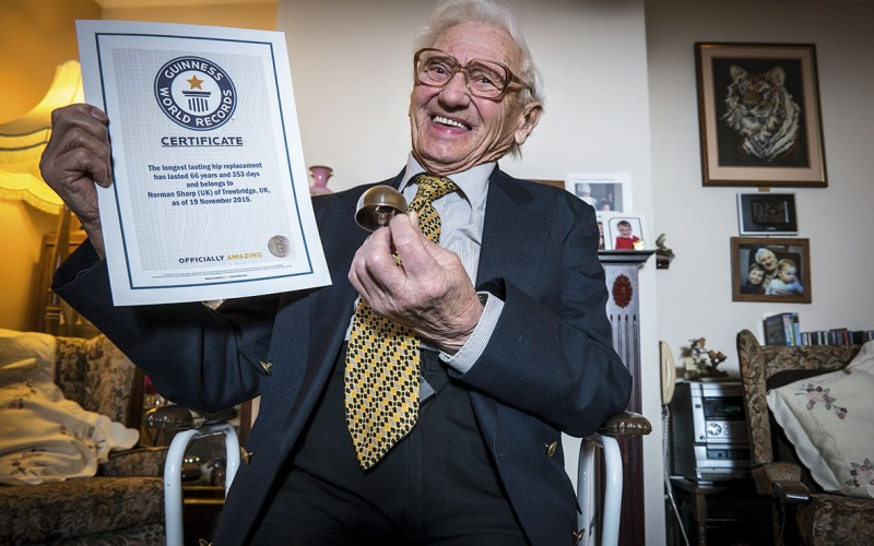 Still hip after all these years: 91-year-old man has world's longest lasting hip replacements