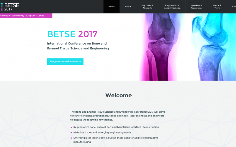 9–12 July 2017, International bone and enamel tissue science and engineering conference; Leeds