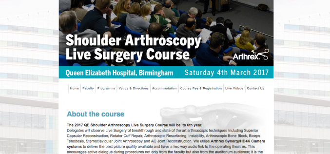 4 March 2017 – Shoulder Arthroscopy Live Course 2017; Birmingham