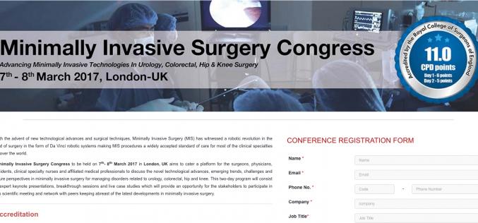 7–8 March 2017 – Minimally Invasive Surgery Congress; London