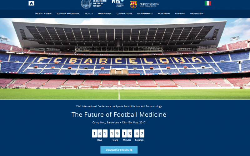 13–15 May 2017 – The Future of Football Medicine; Barcelona