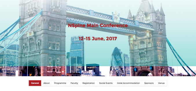 12–15 June 2017 – NSpine 2017; London