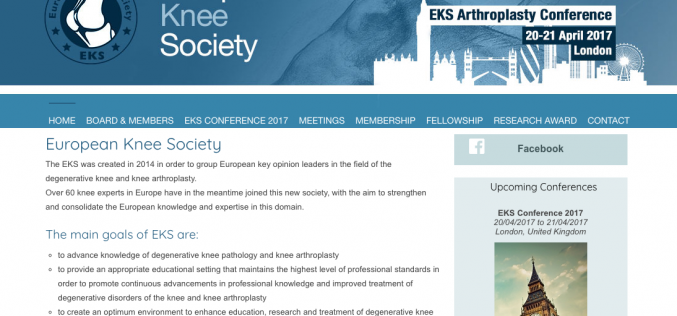 20-21 April 2017 – EKS Arthroplasty Conference 2017; London
