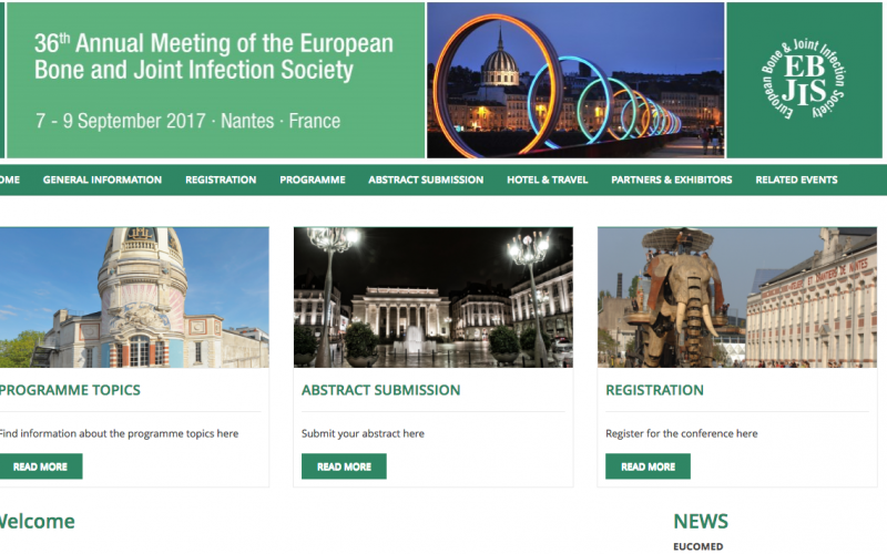 7–9 September 2017, 36th Annual Meeting of the European Bone and Joint Infection Society; France