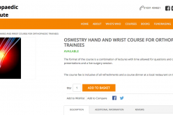 12–13 October 2017 – The Oswestry Hand and Wrist Course, Oswestry