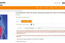 8–9 November 2017 – The Oswestry Two-Day Spinal Imaging Course; Oswestry, UK