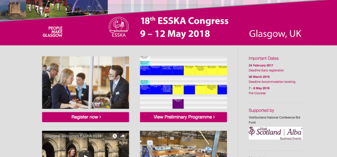 9–12 May 2018; 18th ESSKA Congress 2018, Glasgow