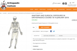 18–19 January 2018; Anatomy and surgical exposures in orthopaedics course; Oswestry