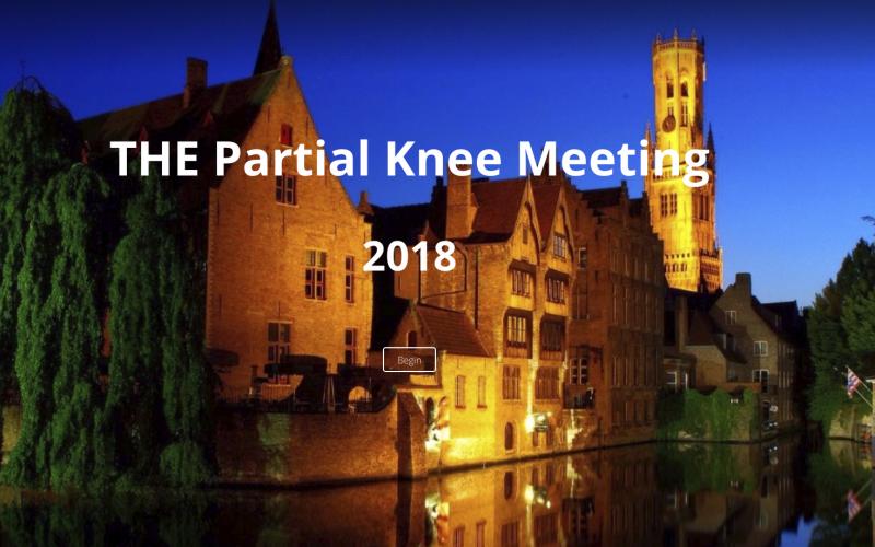 25–26 January 2018; The Partial Knee Meeting 2018; Belgium