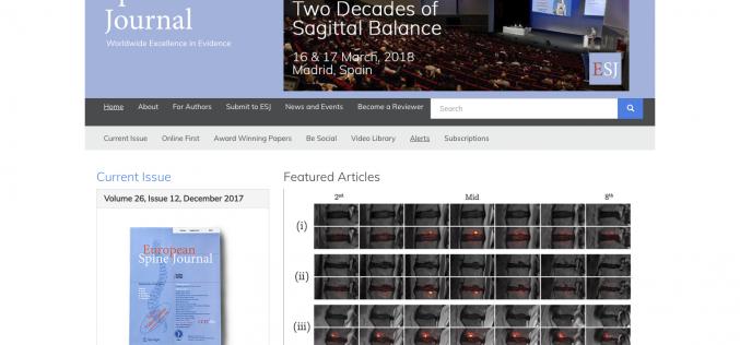 16–17 March 2018; European Spine Journal: Meet the Expert 2018, Spain