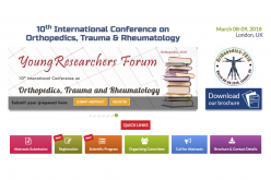 8–9 March 2018; 10th International Conference on Orthopaedics, Trauma and Rheumatology, London