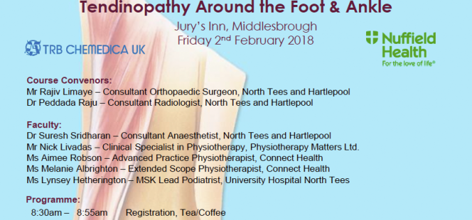 2 February 2018, 5th Foot & Ankle Symposium; Middlesbrough