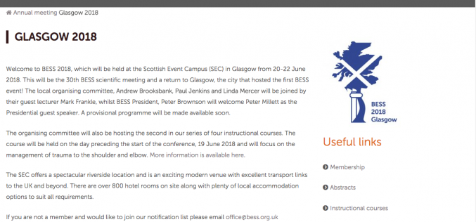 20-22 June 2018, BESS 2018; Glasgow