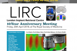 20 April 2018, London Implant Retrieval Centre – 10-year anniversary meeting; London