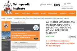21 September 2018, A Fourth Masterclass in Intra-operative Neuro-Monitoring (IONM) for Spinal Surgery; Oswestry