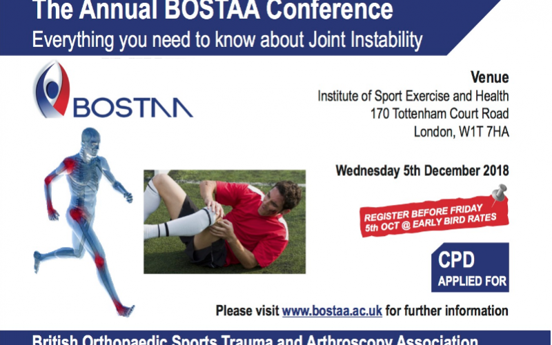 5 December 2018, The Annual BOSTAA Conference; London