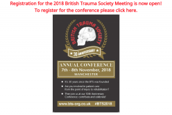 7-8 November 2018, British trauma society annual scientific meeting 2018; Manchester