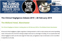 28 February 2019, The Clinical Negligence Debate; Manchester