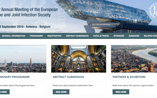 12-14 September 2019, 38th Annual Meeting of the European Bone & Joint Infection Society; Belgium