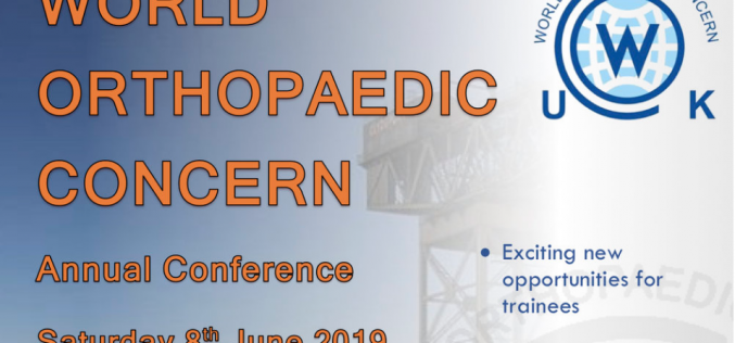 8 June 2019, World Orthopaedic Concern annual conference; Glasgow
