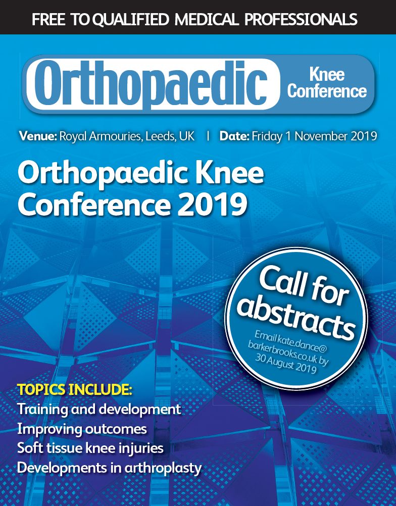 Save the date for the Orthopaedic Knee Conference 2019 - Orthopaedic