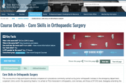 30 October – 1 November 2019, Core skills in orthopaedic surgery; Edinburgh