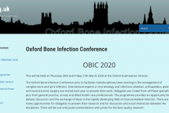 26-27 March 2020, Oxford Bone Infection Conference; Oxford