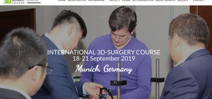18-21 September 2019, Intercontinental 3D Surgery Course 2019; Munich