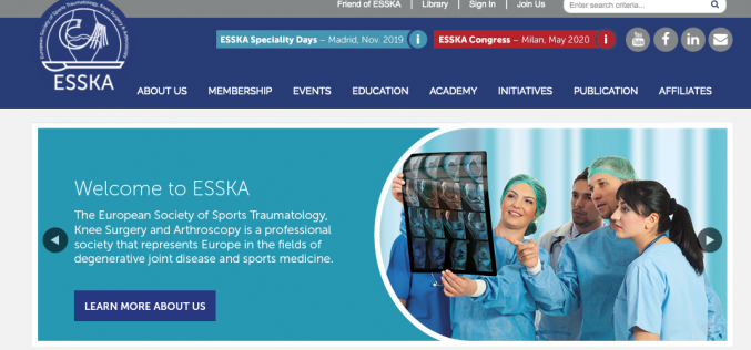 8-9 November 2019, ESSKA Speciality Days Madrid 2019