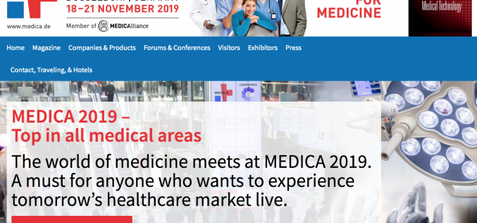 18-21 November 2019, MEDICA; Dusseldorf