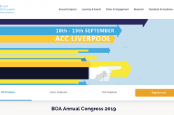 10-13 September 2019, BOA Annual Congress; Liverpool