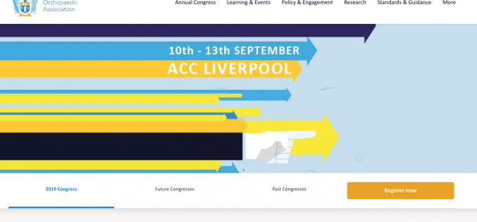 10-13 September 2019, BOA Annual Congress; Liverpool