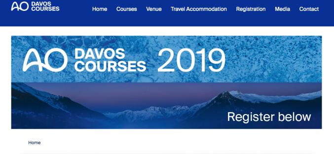 1-11 December 2019, AO Foundation Davos Courses 2019; Switzerland