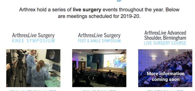 28-29 February 2020, ArthrexLive Advanced Shoulder Course; Birmingham