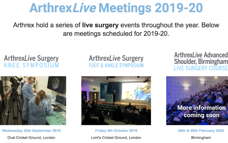 28-29 February 2020, ArthrexLive Advanced Shoulder Course; Birmingham