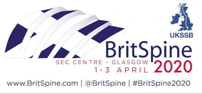 1-3 April 2020, BritSpine 2020; Glasgow