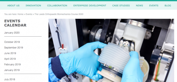 20-21 January 2020, The Leeds Orthopaedic Biomechanics Course 2020; Leeds
