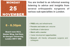 25 November 2019, Are you a woman who wants to be an orthopaedic surgeon? London