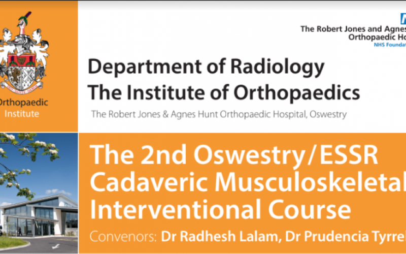 5-6 June 2020, Cadaveric Musculoskeletal Interventional Course (Ultrasound or CT/Fluoro); Oswestry