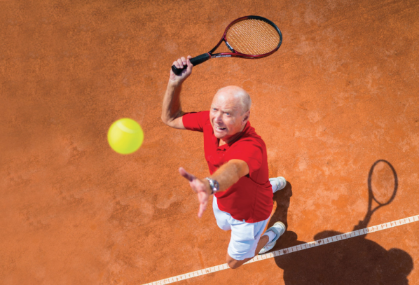 Playing tennis beats going to the gym when it comes to warding off muscle and bone problems later in life