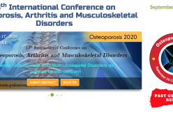 16-17 September 2020, 13th International Conference on Osteoporosis, Arthritis and Musculoskeletal Disorders; Dubai
