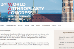 April 22-24 2021, World Arthroplasty Congress; Virtual congress