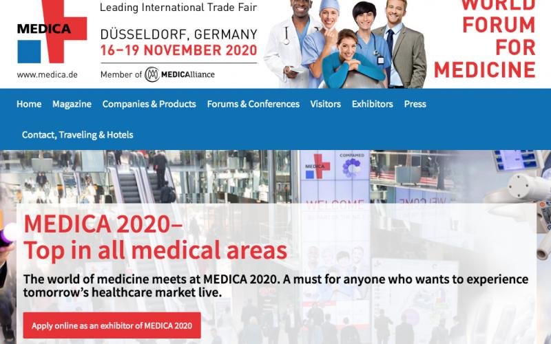 16-19 November 2020, Medica 2020; Düsseldorf