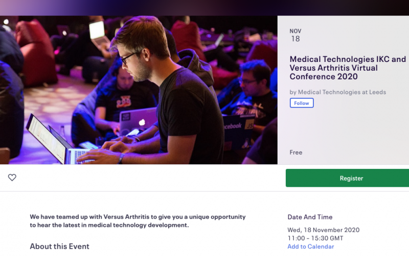18 November 2020, Medical Technologies IKC Annual Conference; Virtual event